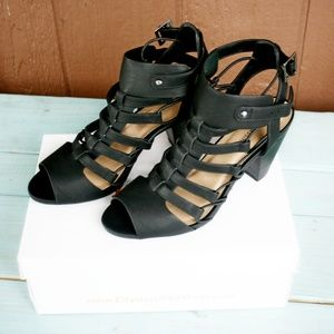 City Classified Awesome Gladiator Sandals Black